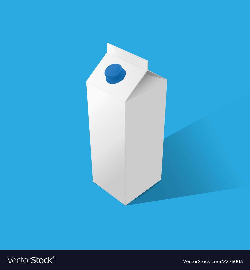 Milk template on a blue background