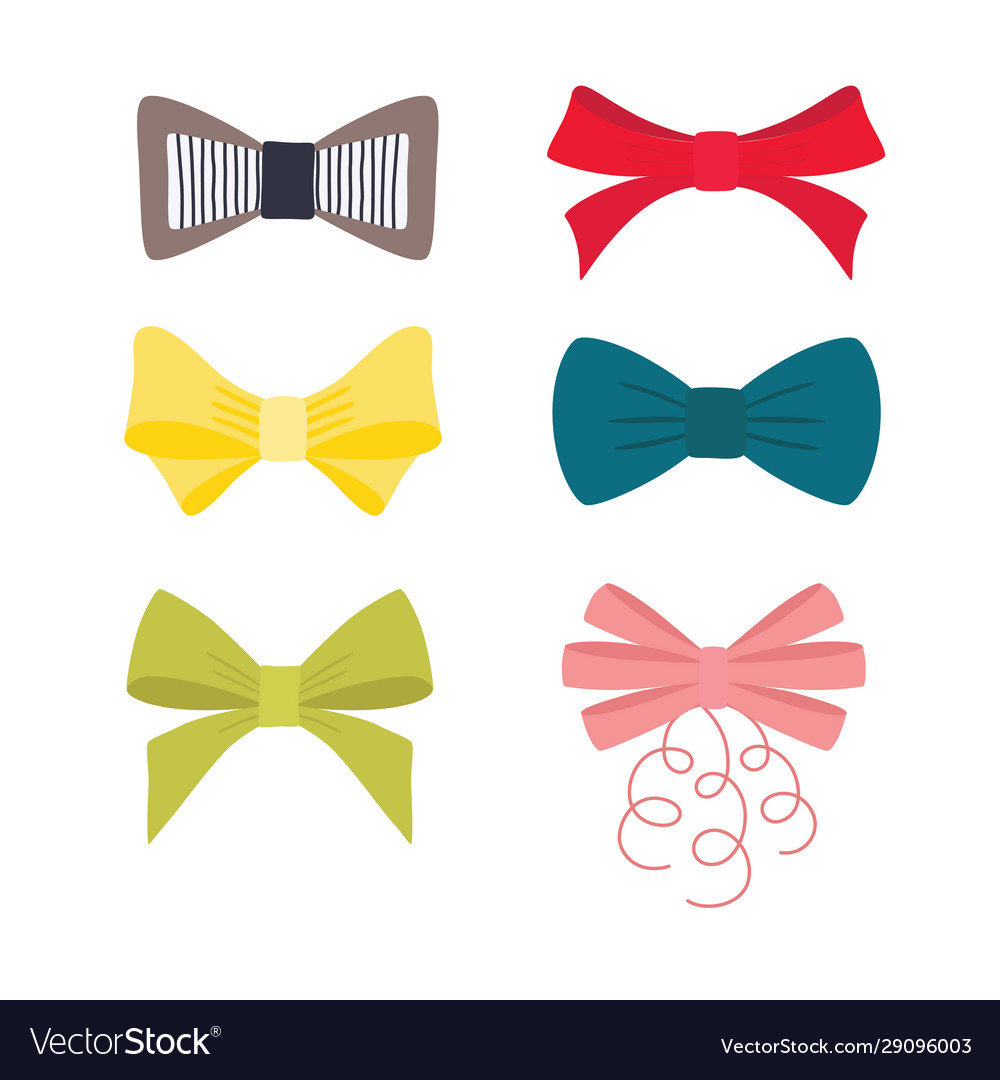 Multicolor image different bow collection
