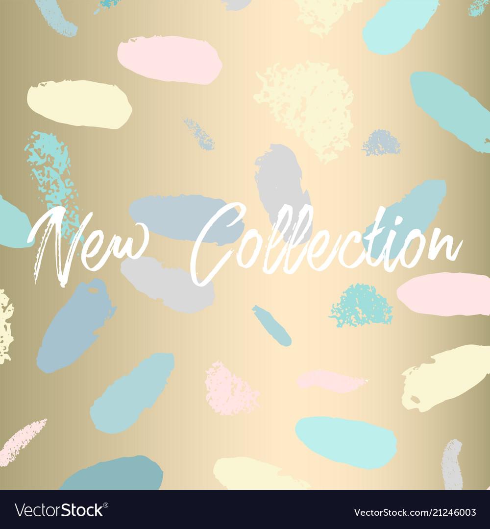 New collection fashion header confetti