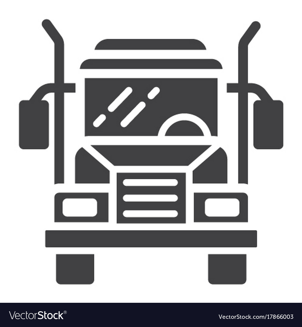 Truck glyph icon transport and vehicle cargo