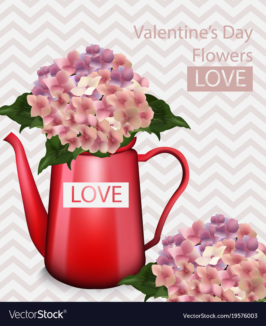 Valentine day flowers bouquet retro Royalty Free Vector