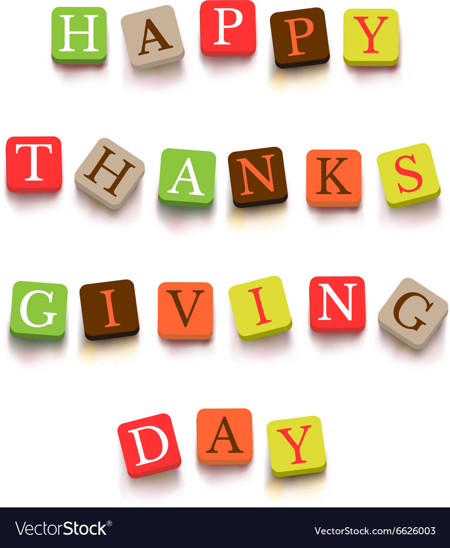 Words Happy Thanksgiving Day
