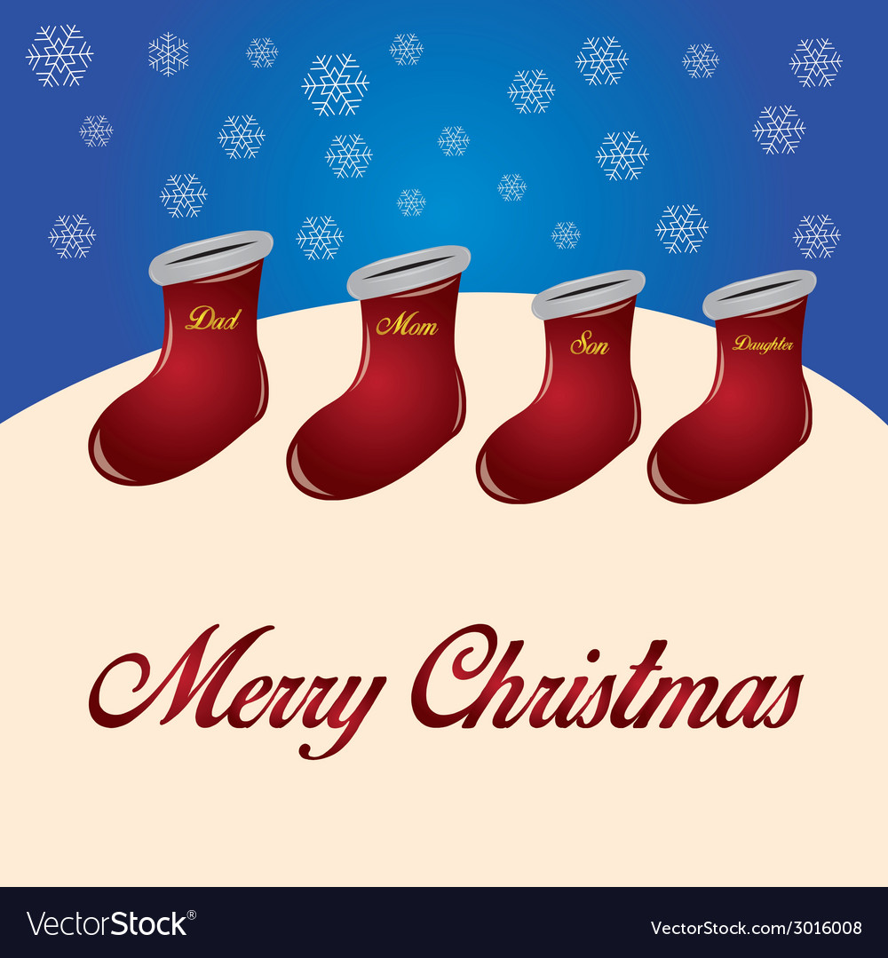 A group of red socks with names for christmas wish