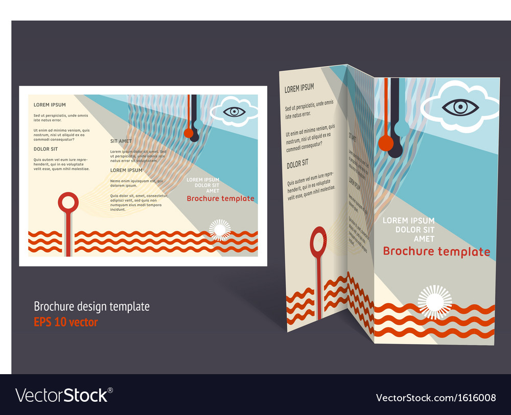 Brochure Booklet Zfold Layout Editable Design Vector Image - Editable brochure templates