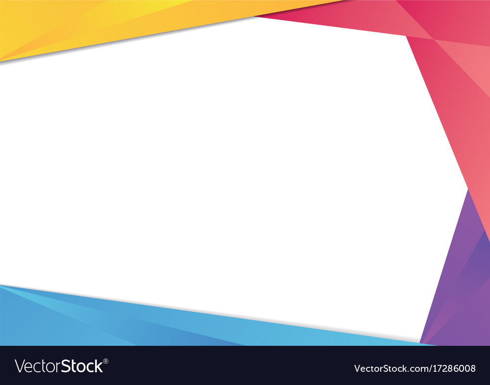 Colorful triangle frame border Royalty Free Vector Image