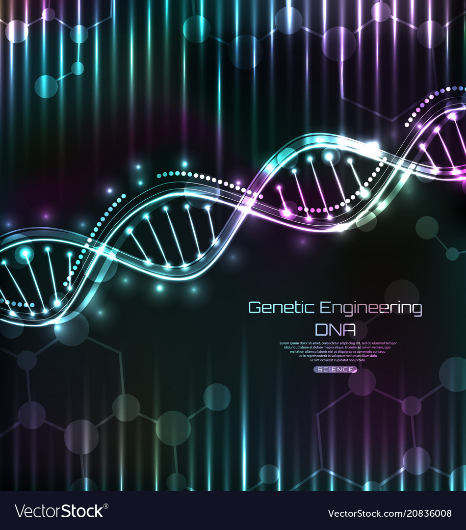 Dna structure spiral science template medical