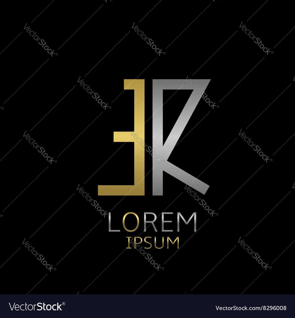 ER letters logo vector image