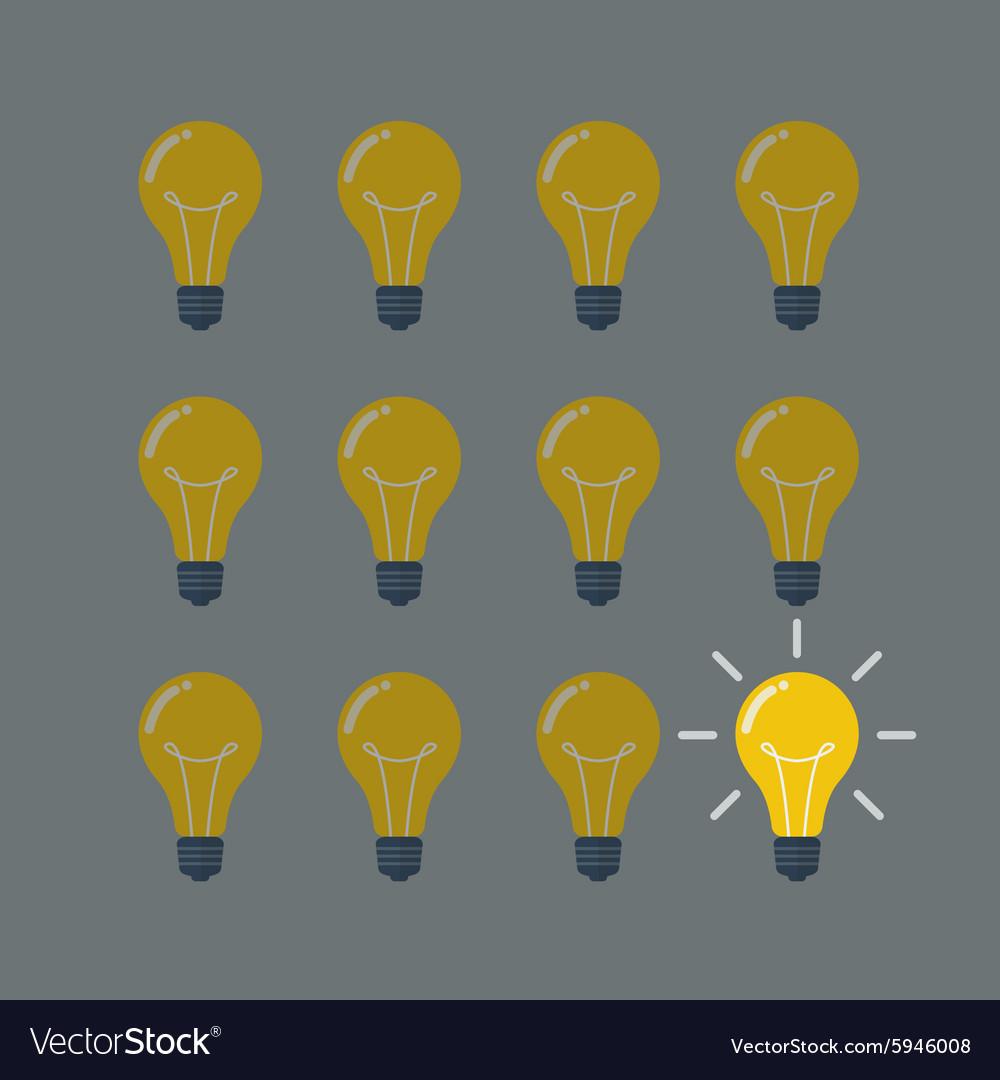 Light Bulbs Pattern Idea Concept