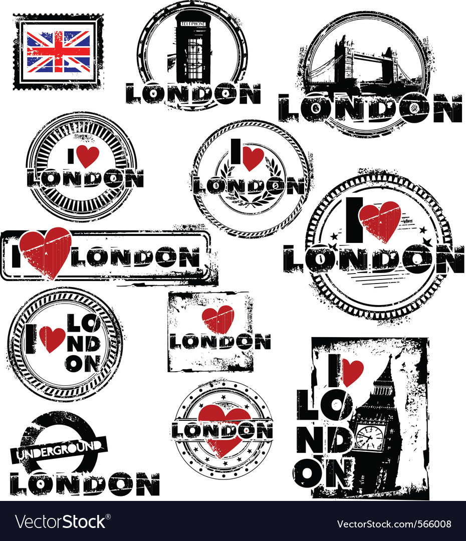 London stamps vector image