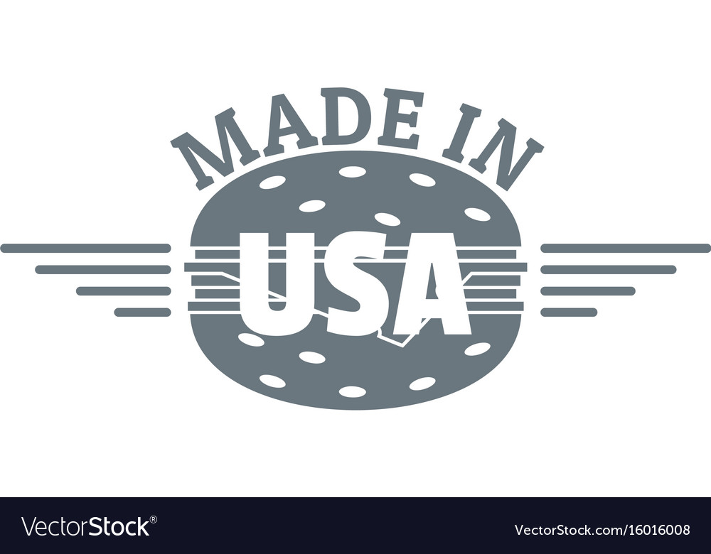 Made in usa logo simple style