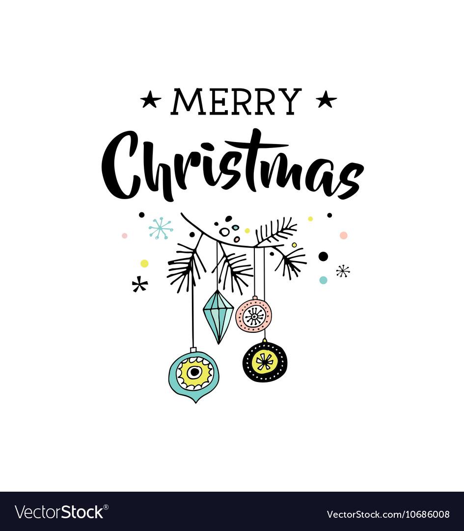 Merry Christmas greeting cards with Xmas tree