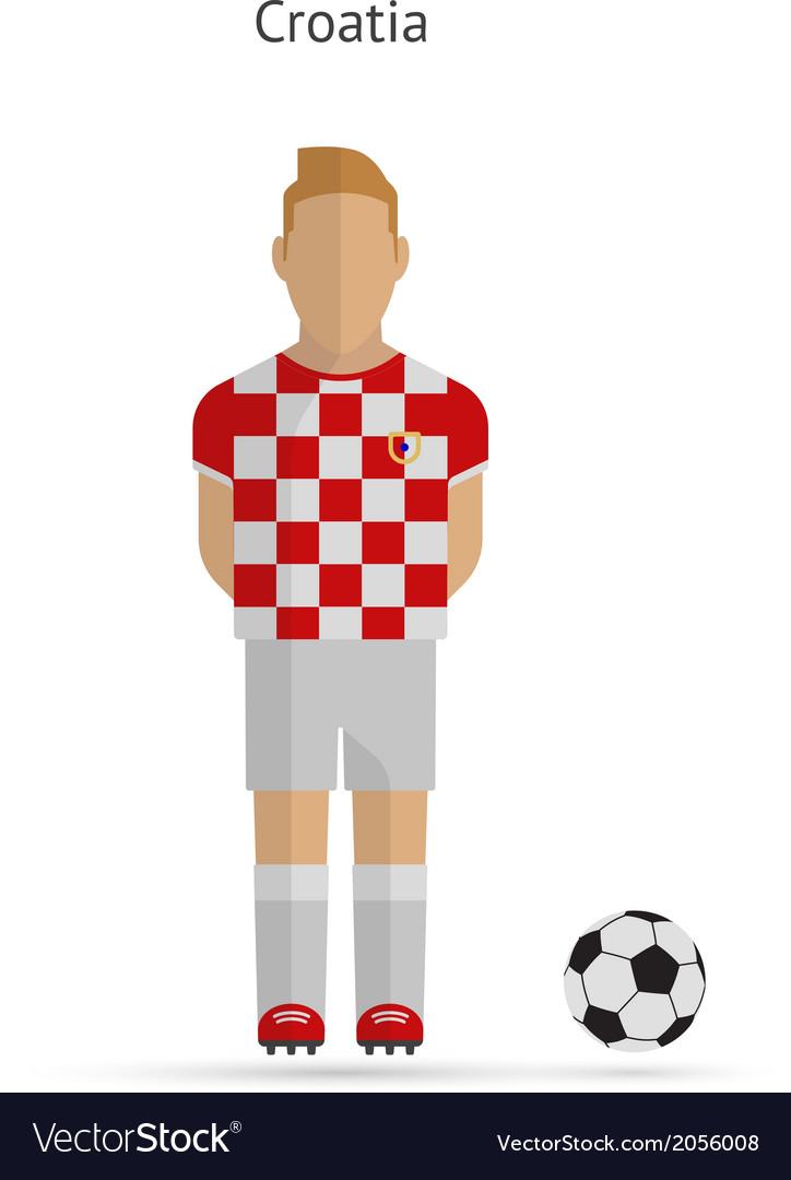 National football player Croatia soccer team Vector Image 86a7c3fe1