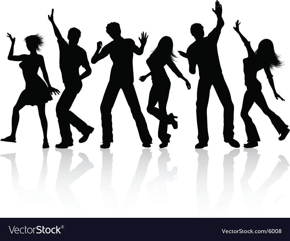people dancing royalty free vector image vectorstock dancing couple silhouette vector woman dancing silhouette vector