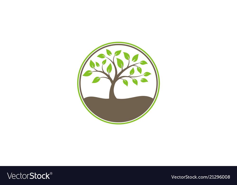 Tree ecology nature logo