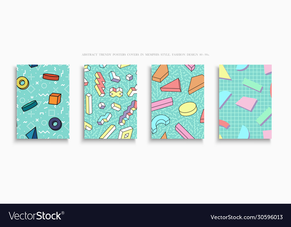 Collection colorful trendy covers templates