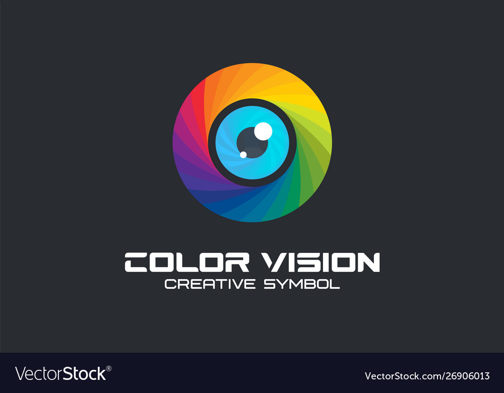 Color vision camera eye creative symbol concept