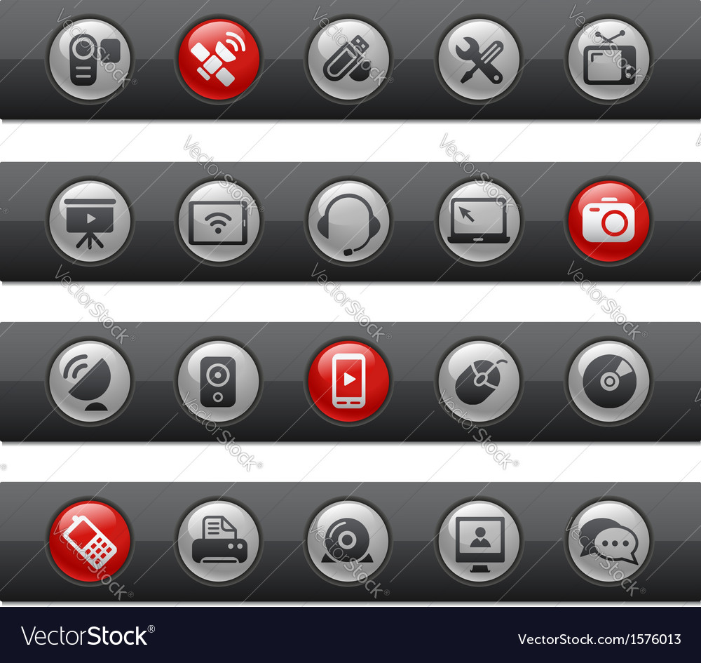 Communications Buttons vector image