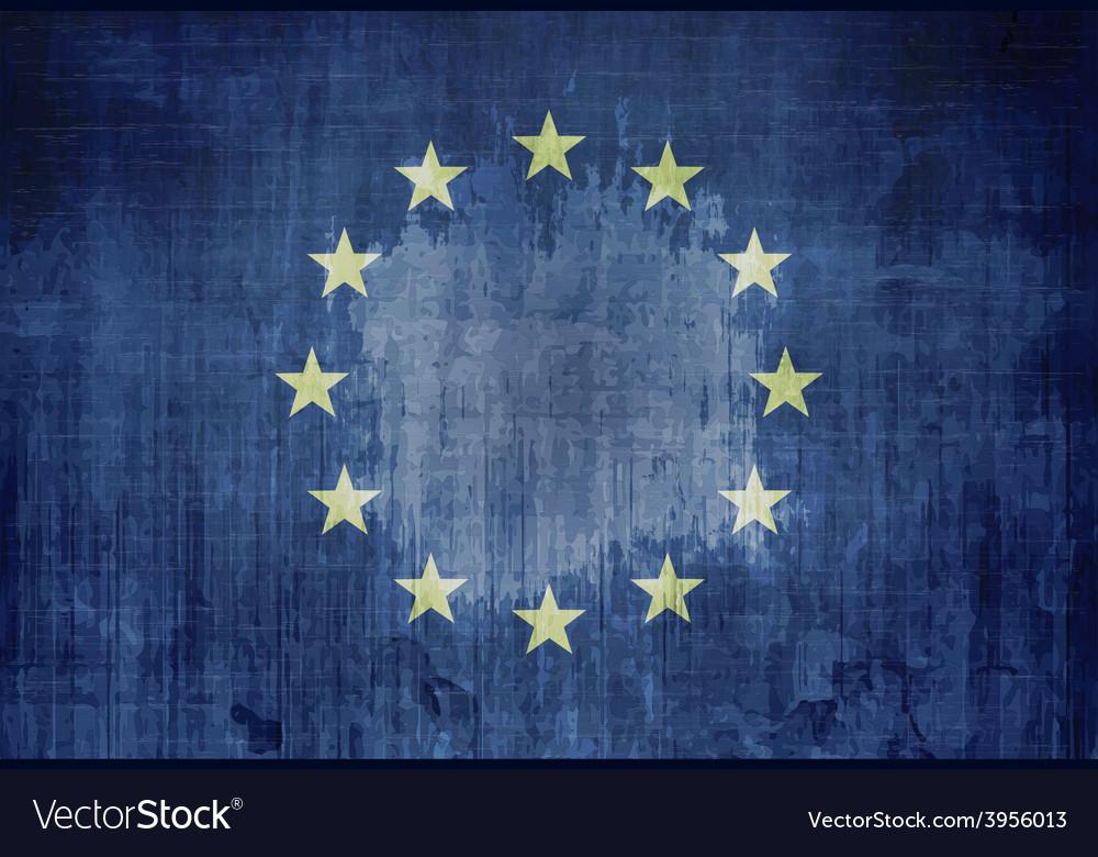 Grunge Flag Of Europe