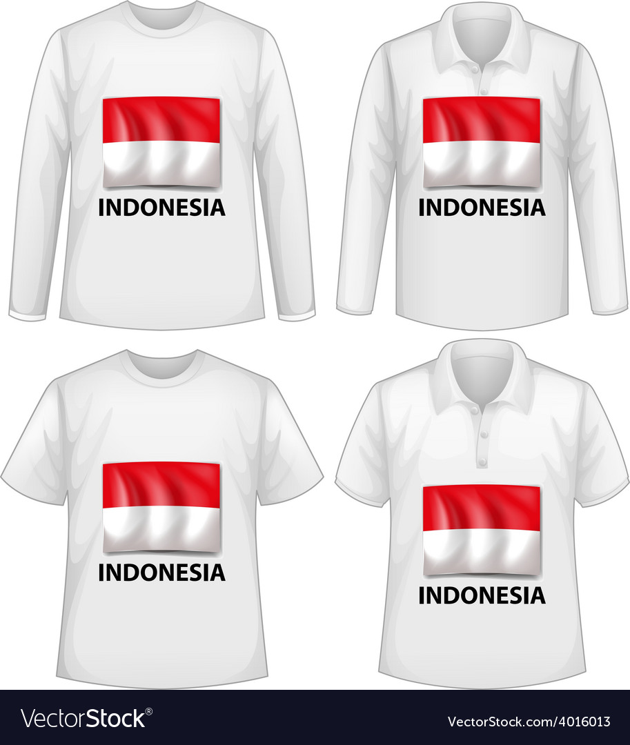 Indonesia shirt vector image