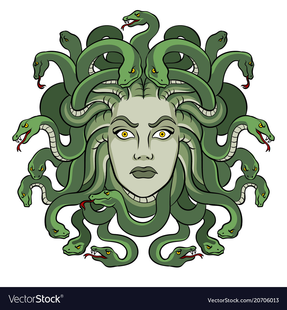 Medusa greek myth creature pop art