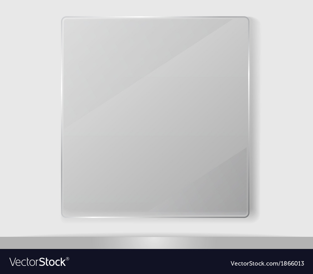 Transparent Glass Framework vector image