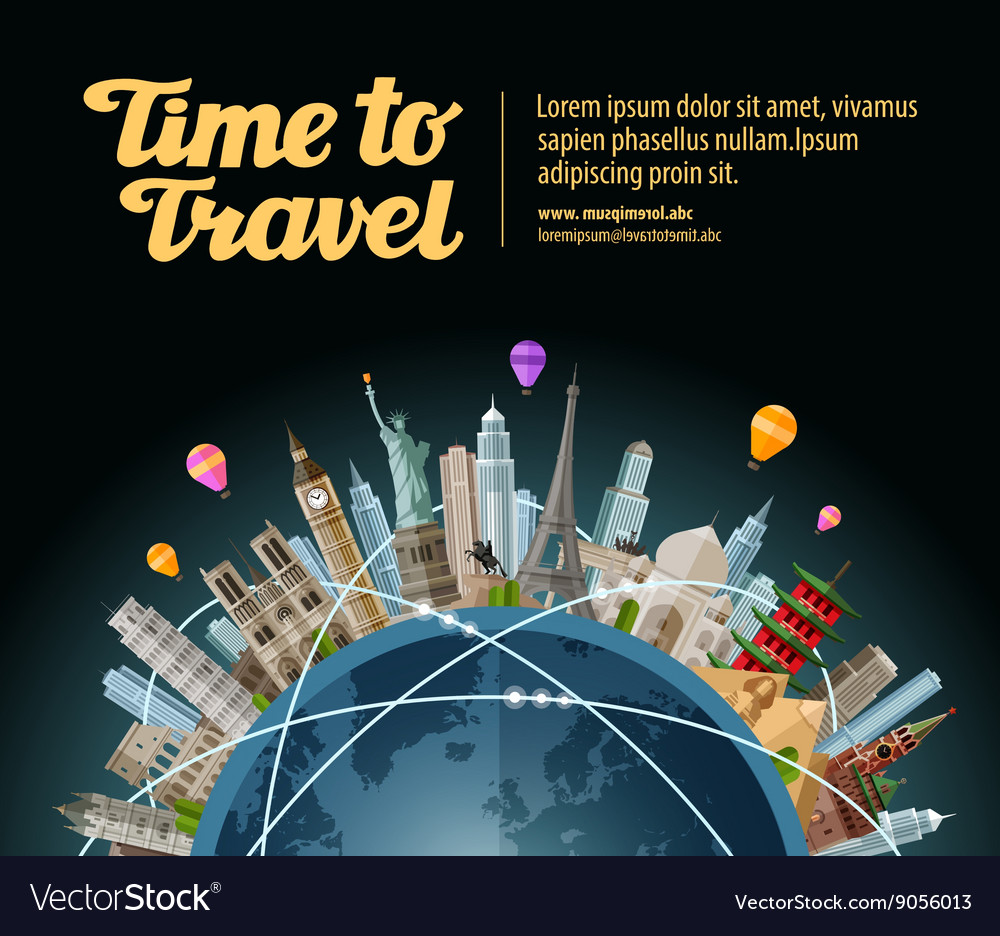 Trip to world Travel Landmarks on the globe