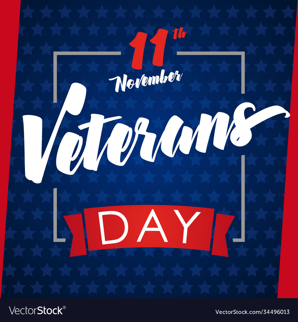 Veterans day greeting card blue