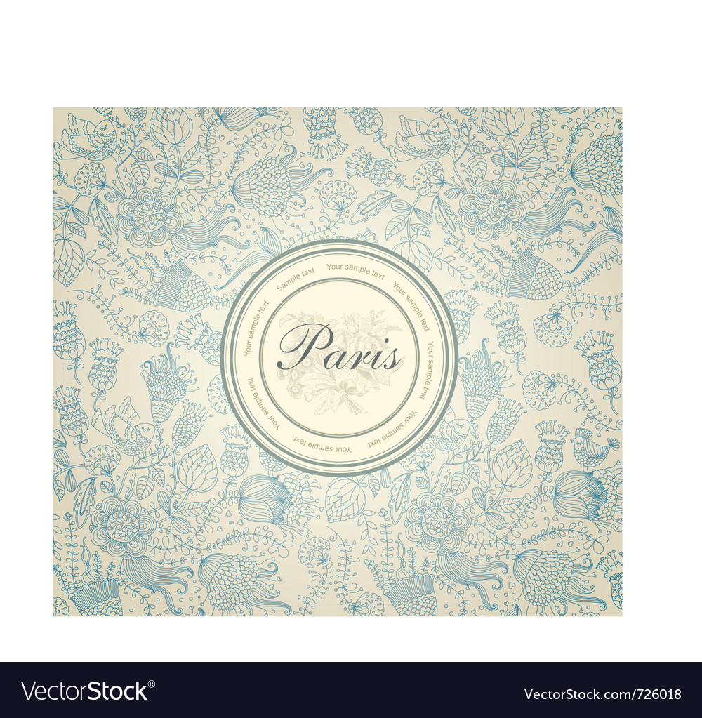 Description Classical wallpaper with a flower pattern Wedding invitation