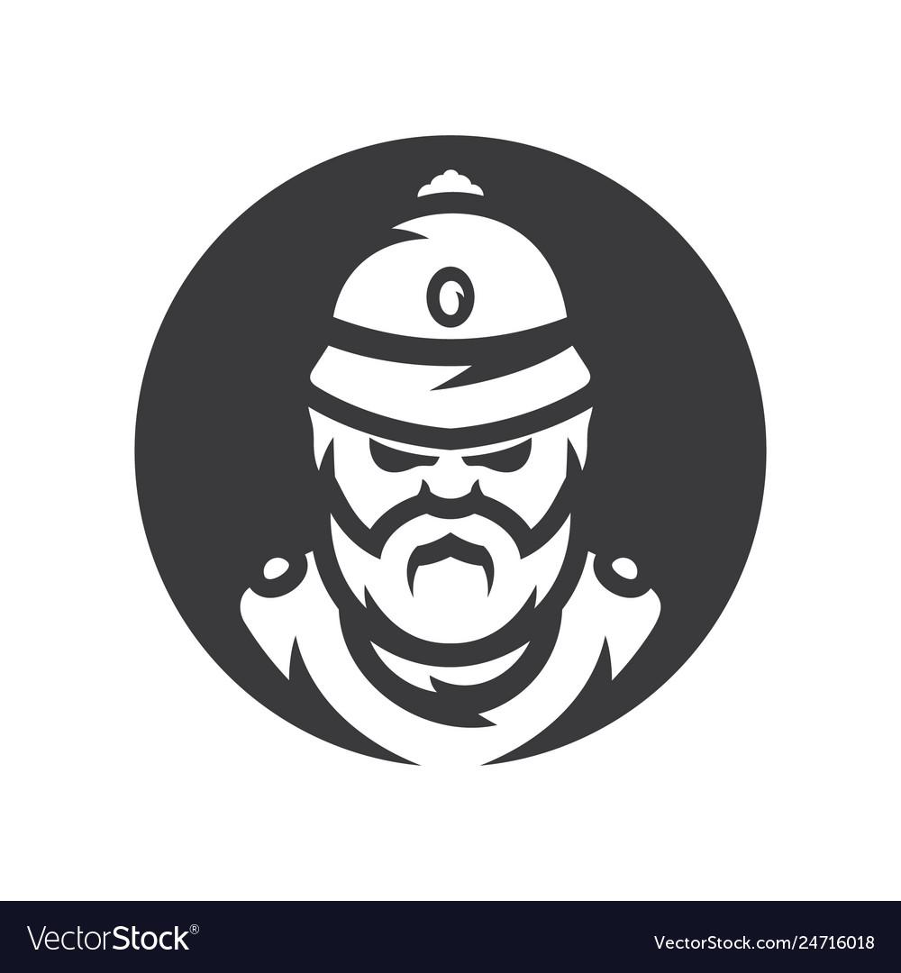 British policeman silhouette sign