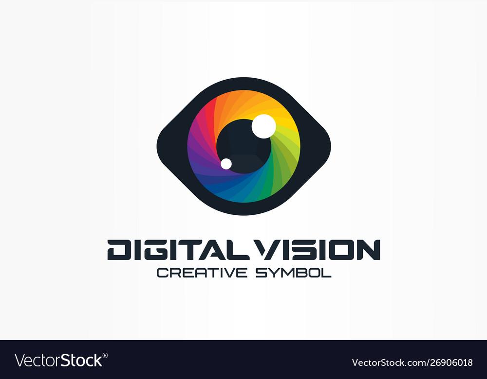 Digital vision cyber eye color lens creative