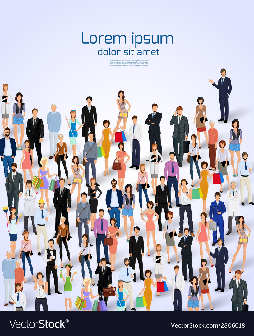 Group of people poster vector image