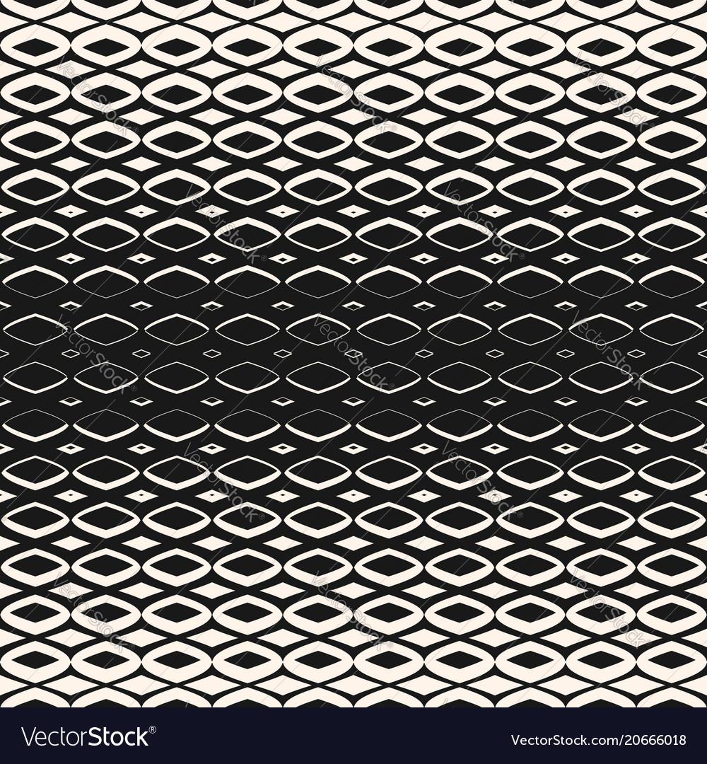 Halftone geometric seamless pattern with diamond
