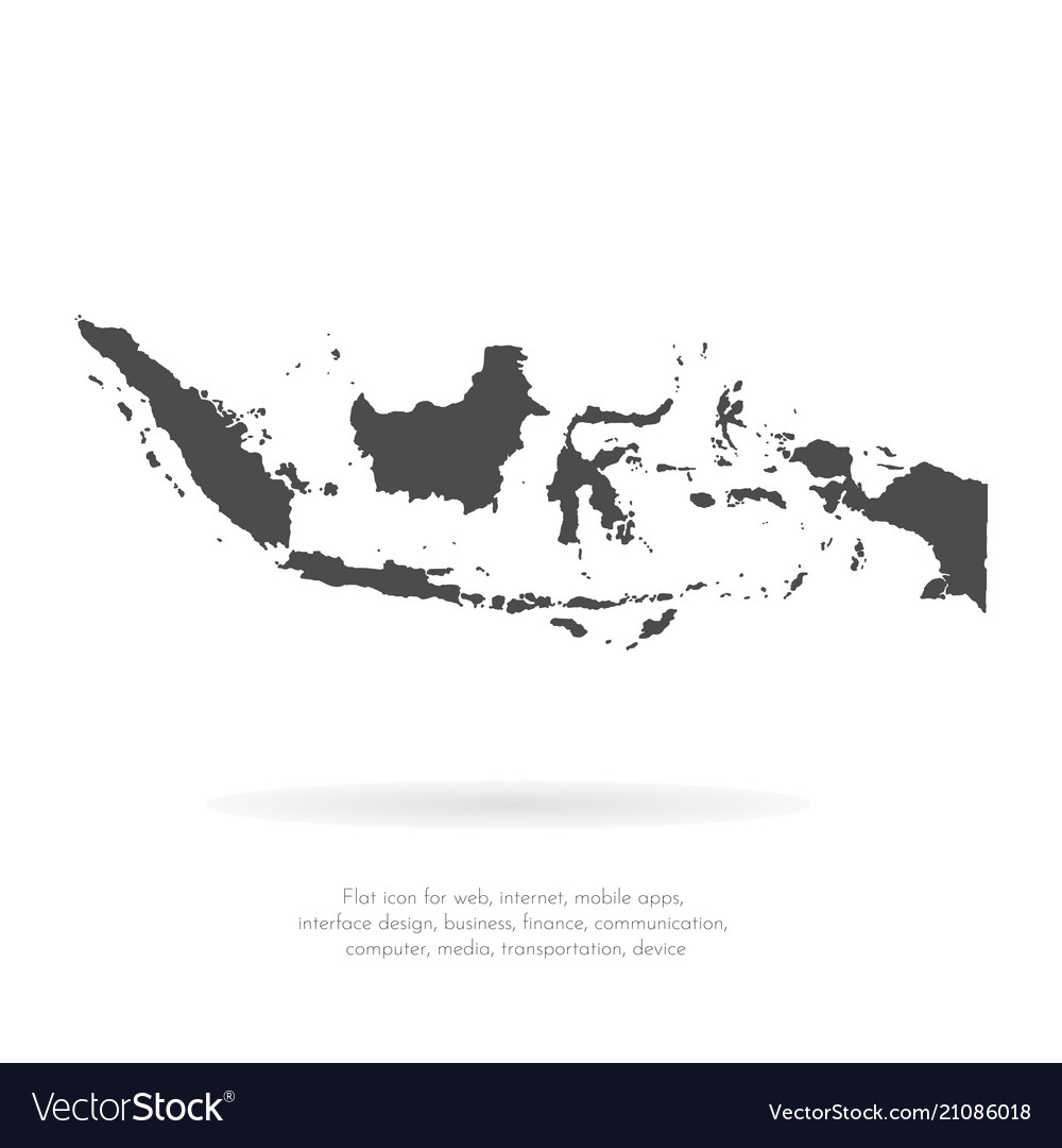 map indonesia isolated black royalty free vector image vectorstock