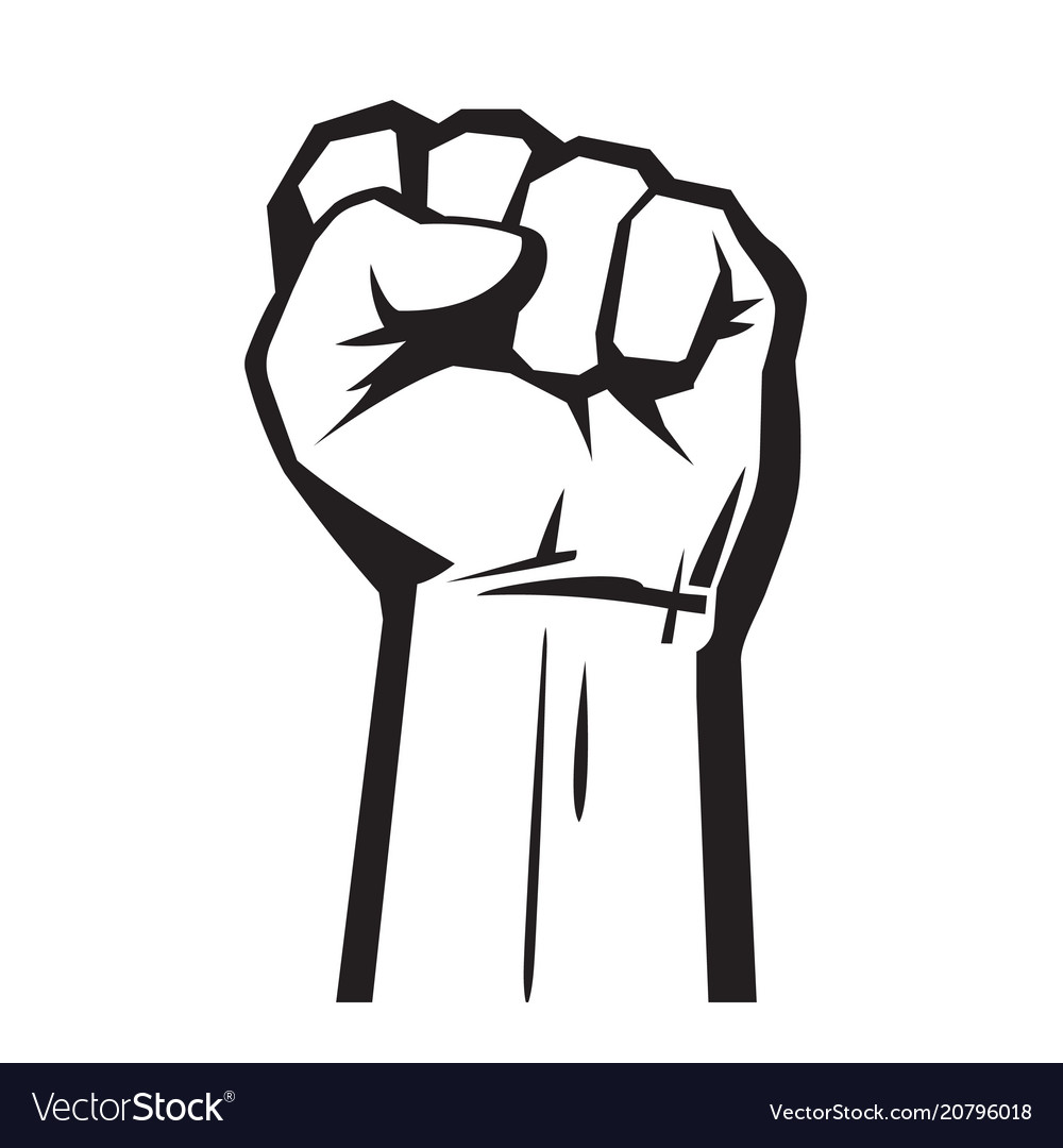 raised hand with fist royalty free vector image rh vectorstock com vector first aid victor first name