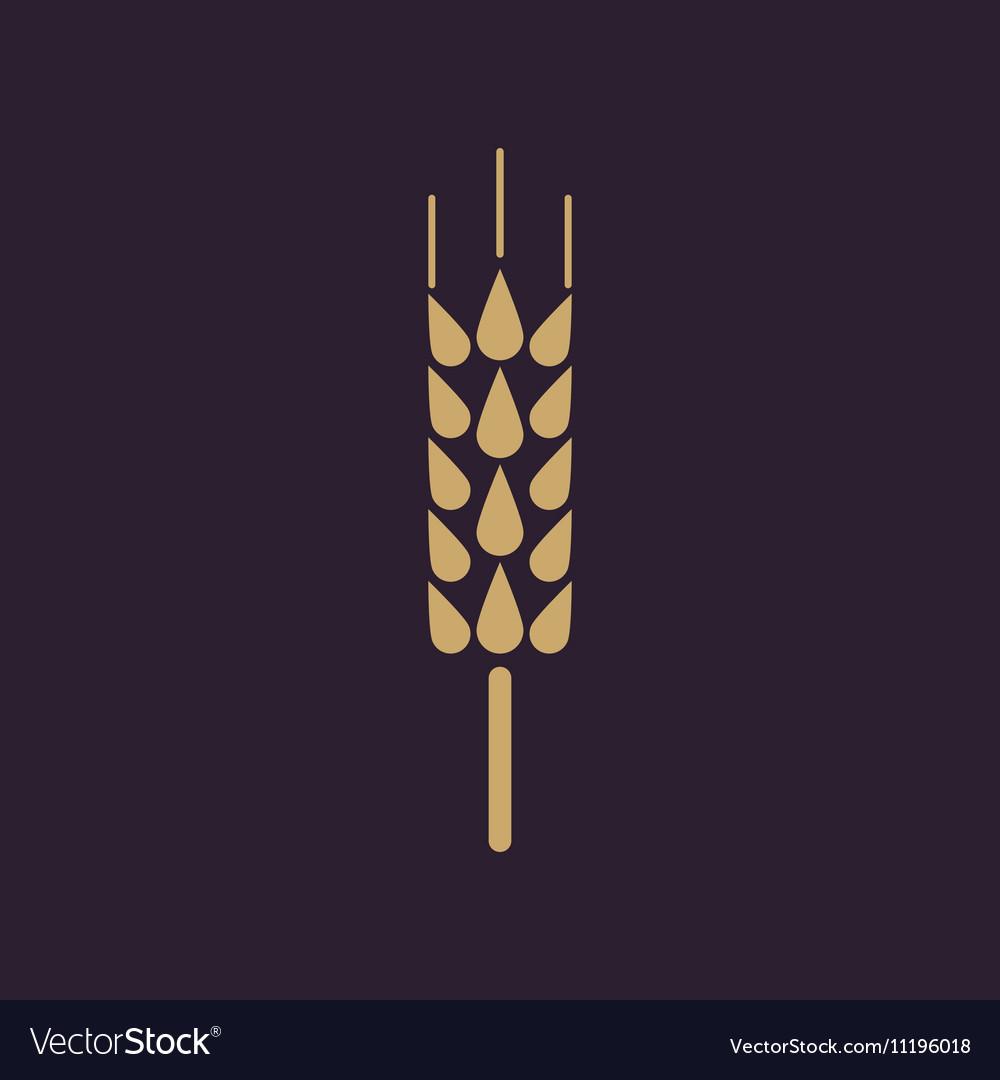 The spica icon Wheat symbol Flat