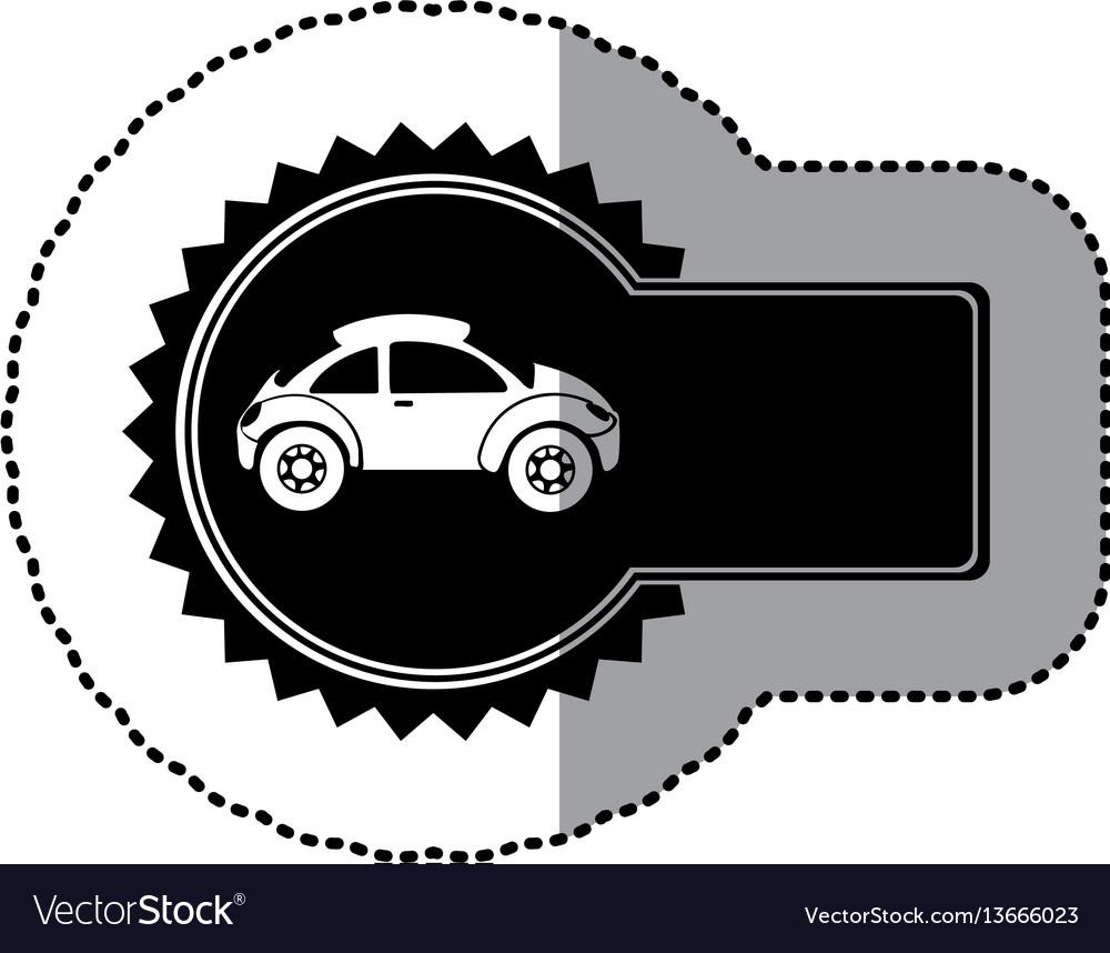 Black emblem sport car side icon