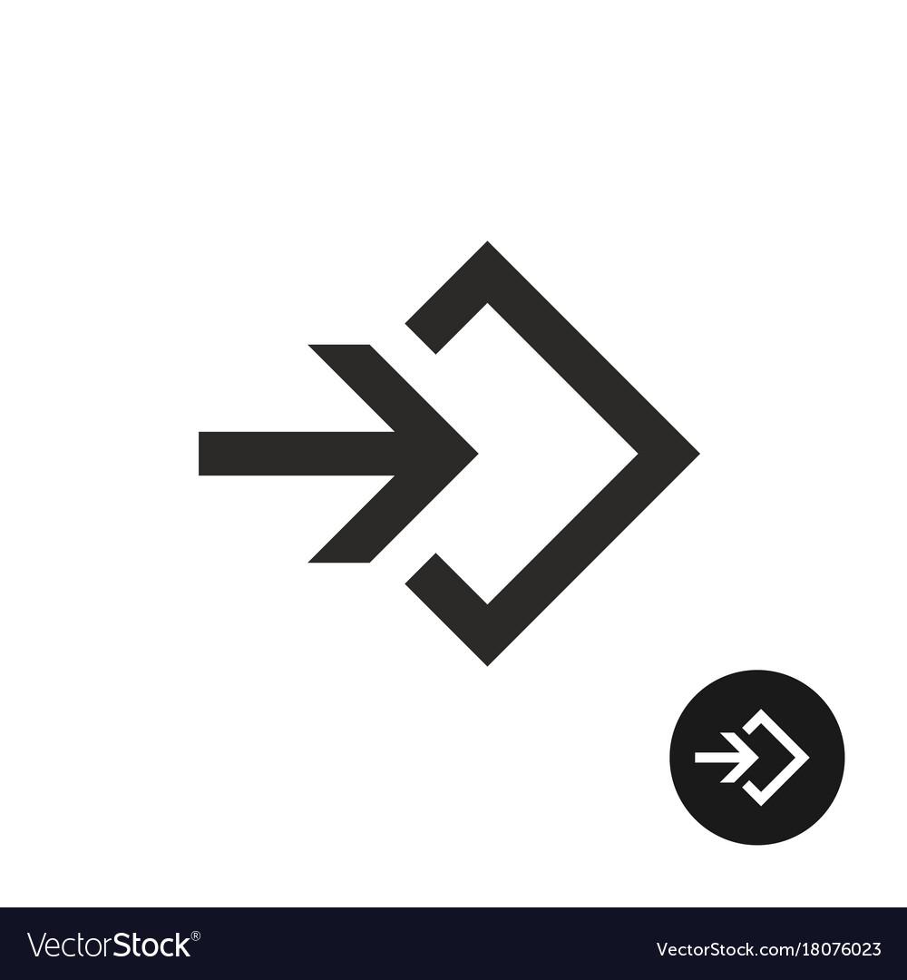 Enter or login black simple icon