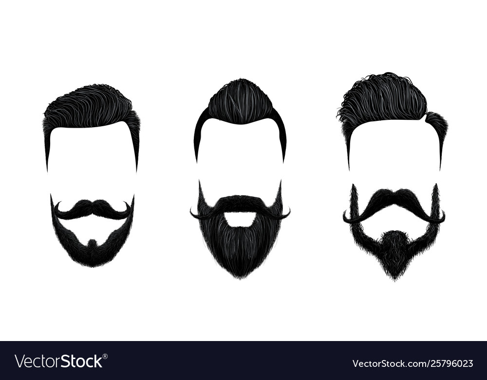 Men hair and moustache styling vintage gentleman