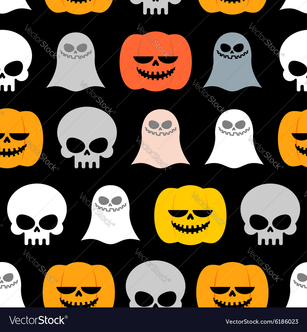 Seamless pattern for Halloween Background of the