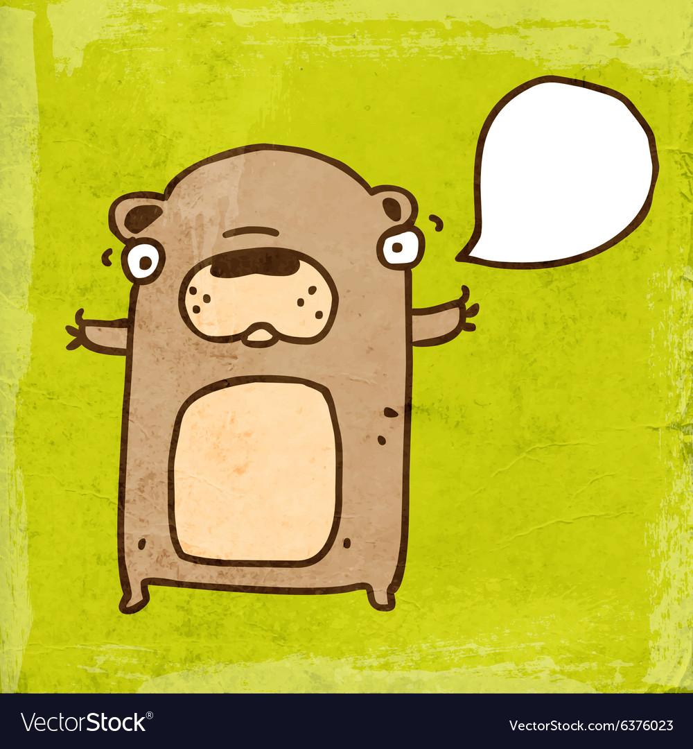 Talking Bear Cartoon