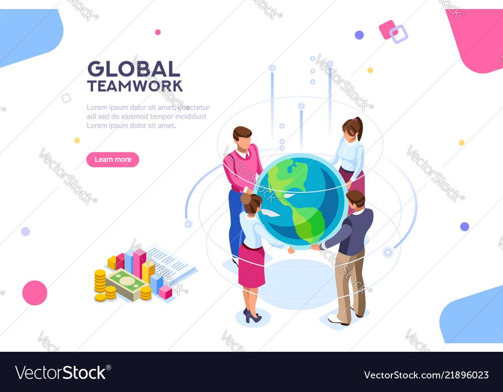 World flat isometric