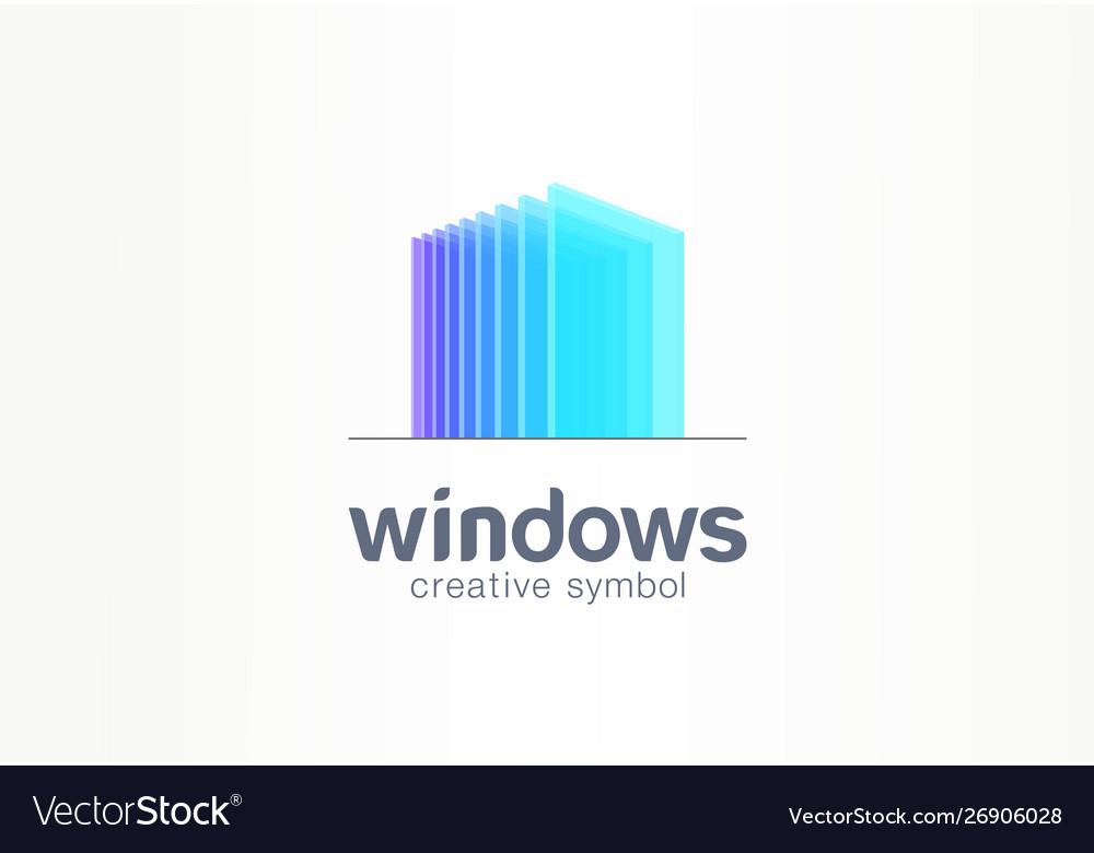 3d windows glass creative symbol concept