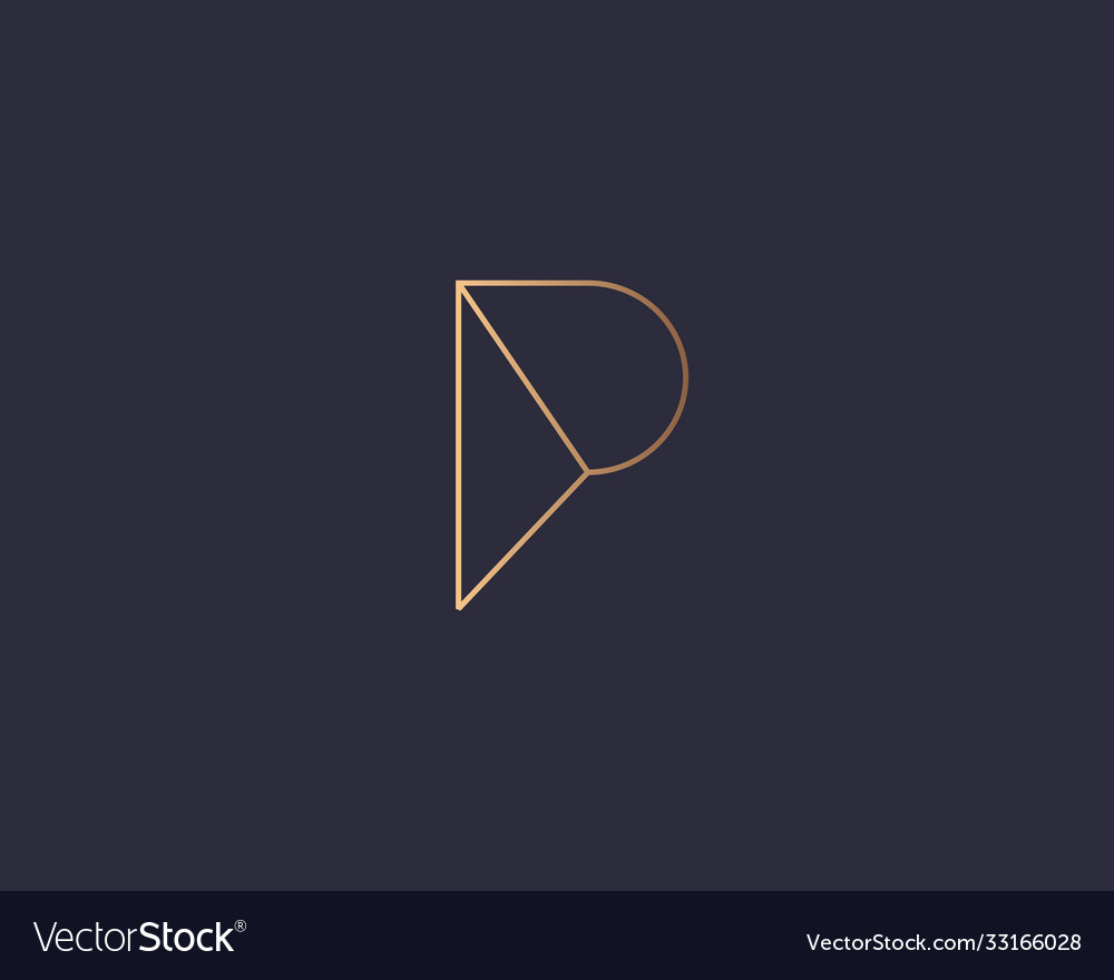 Abstract linear letter p logo icon design modern
