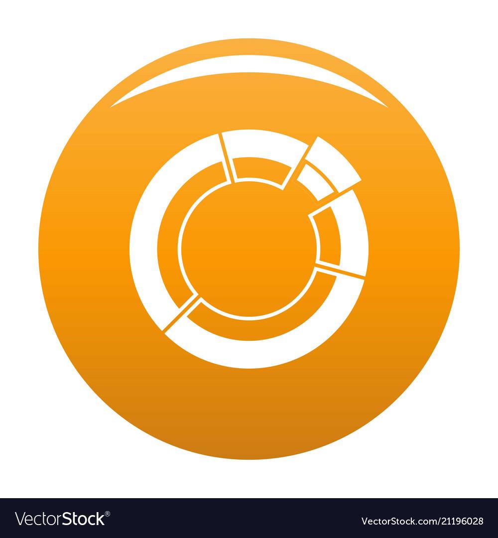 Circle chart icon orange