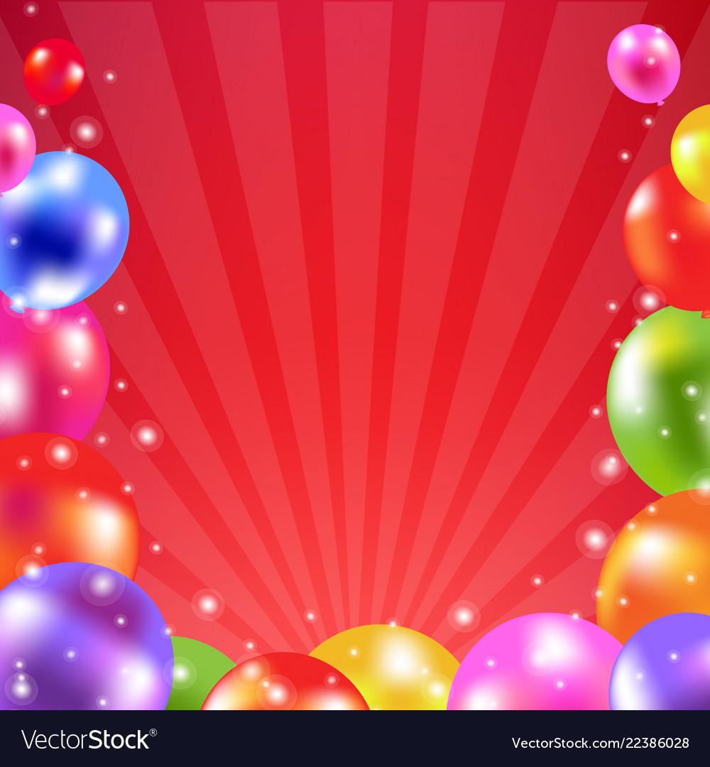 Color balloon card