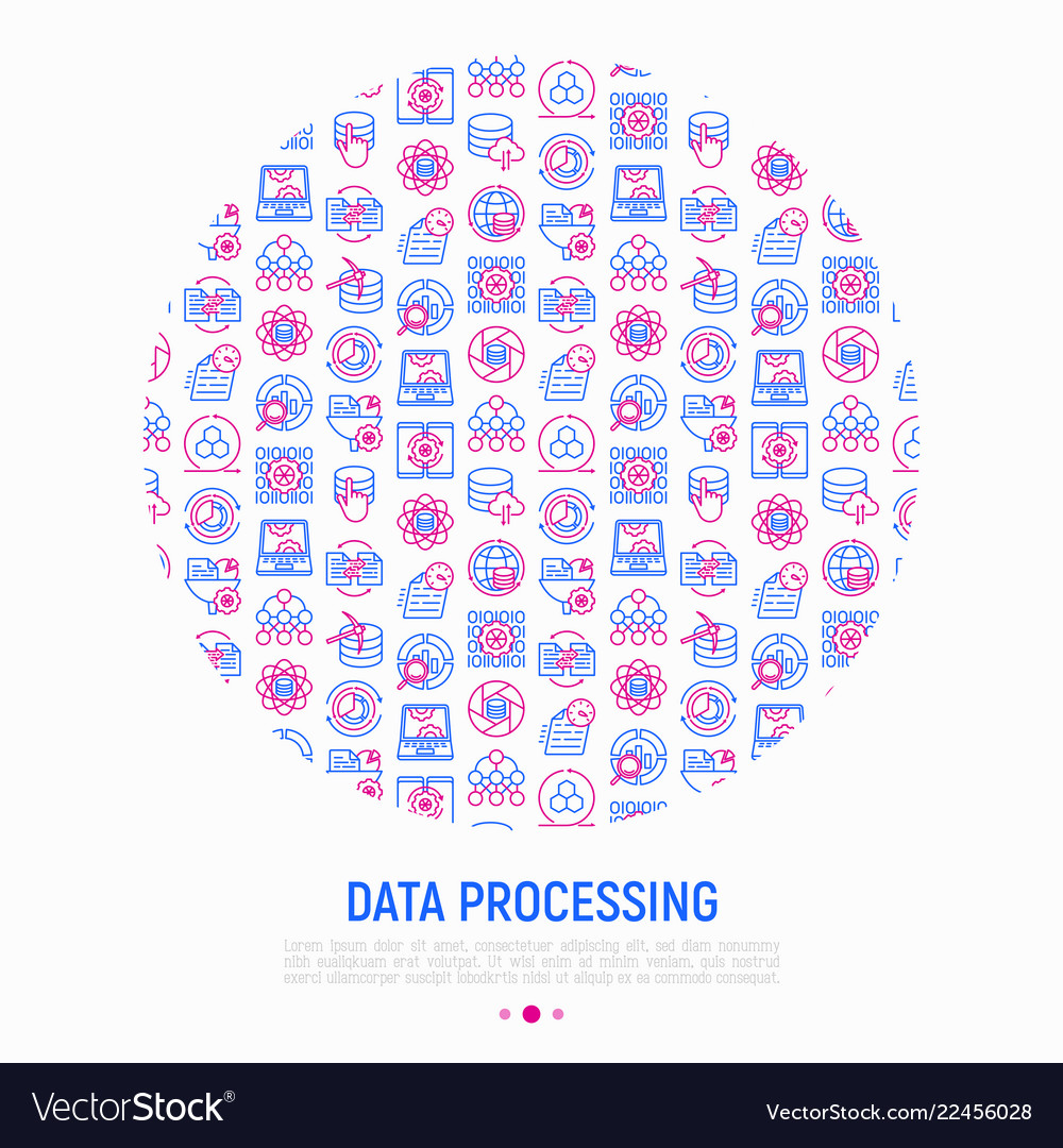 Data processing concept in circle