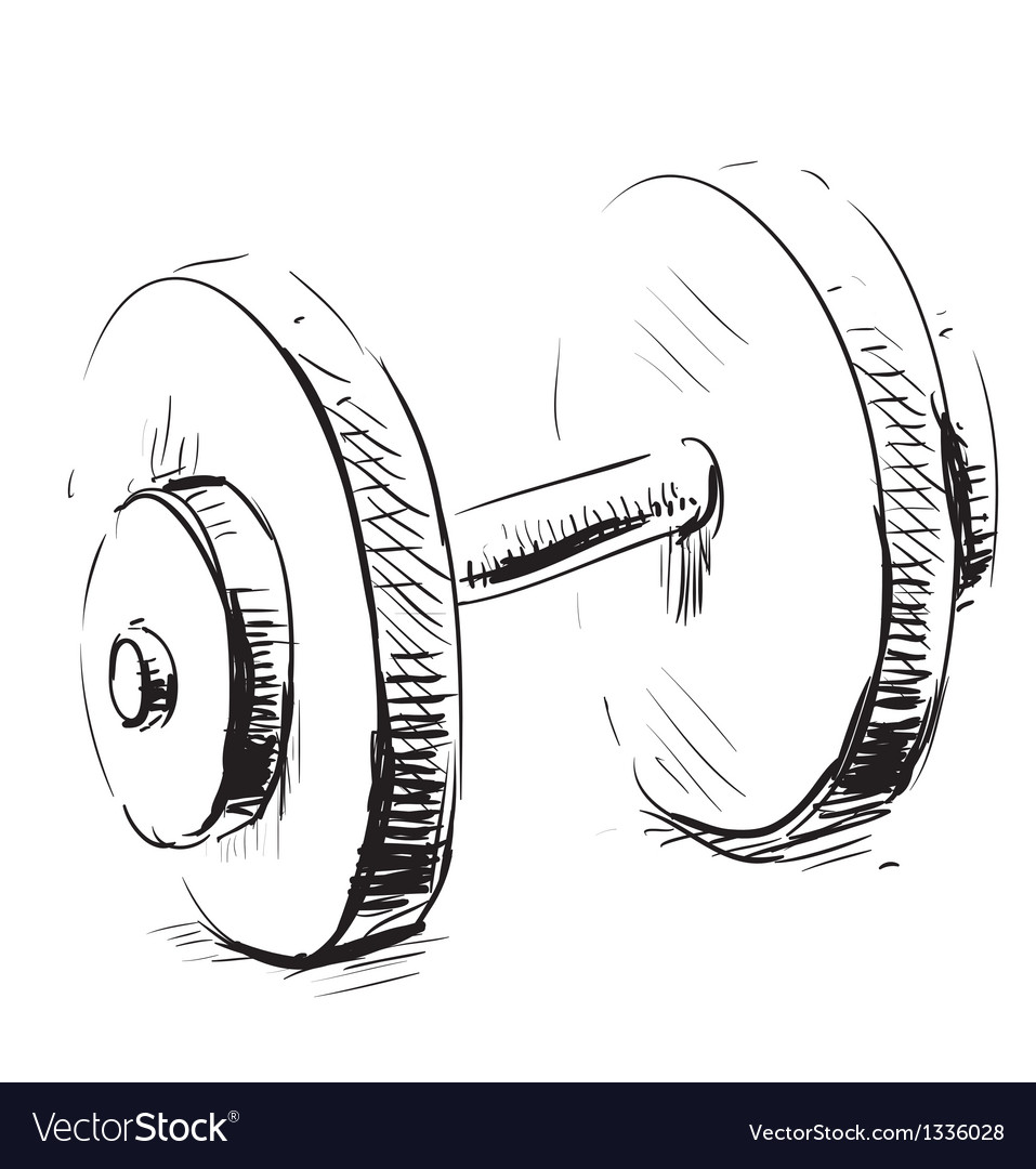 Gum weight dumbbell cartoon icon vector image