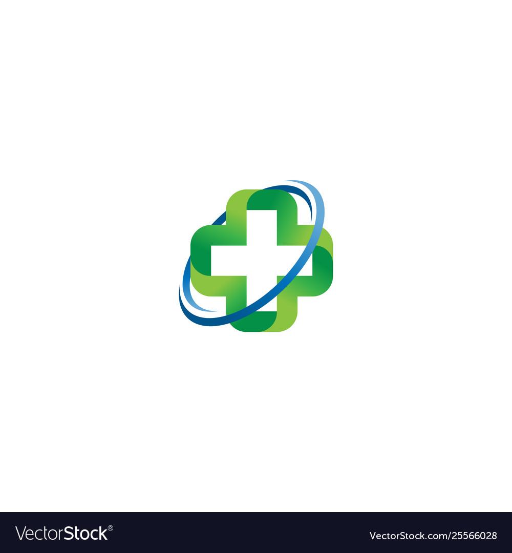 Medical cross logo concept