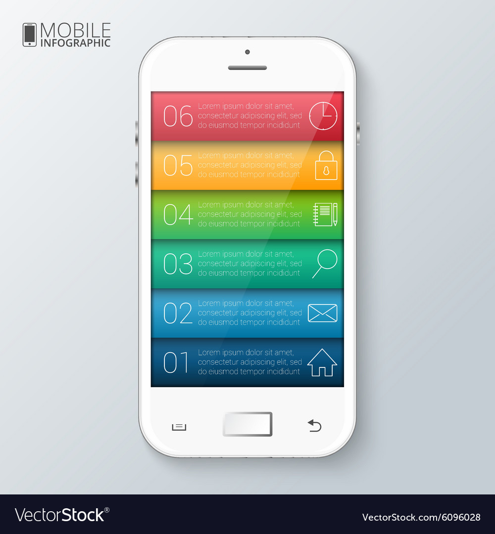 Mobile phone for infographic