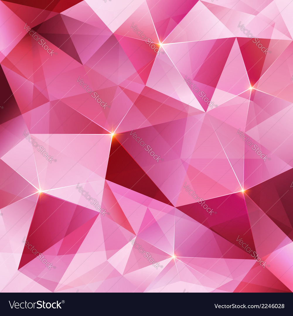 Pink crystal abstract background Royalty Free Vector Image